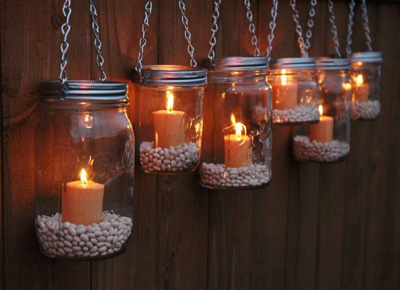 diy hanging mason jar lantern to add a romantic glow to your patio