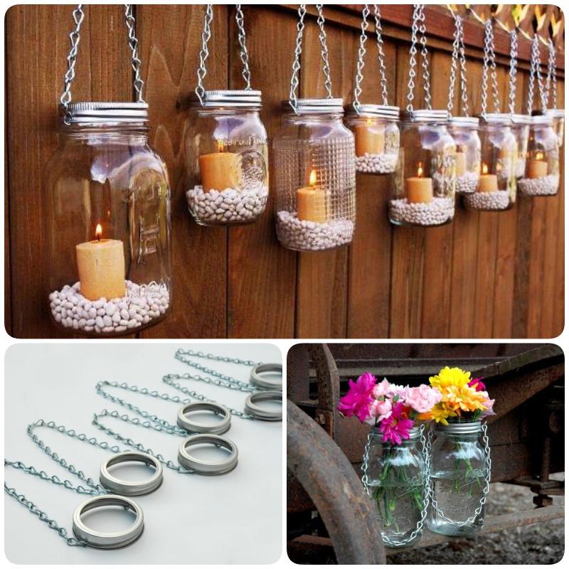 Diy Hanging Mason Jar Lantern To Add A Romantic Glow To