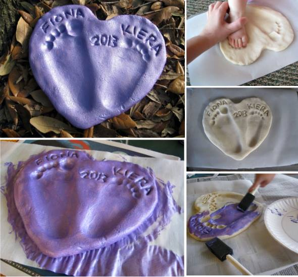 footprint salt dough keepsake 9 diy footprint keepsake ideas and tutorial 4496