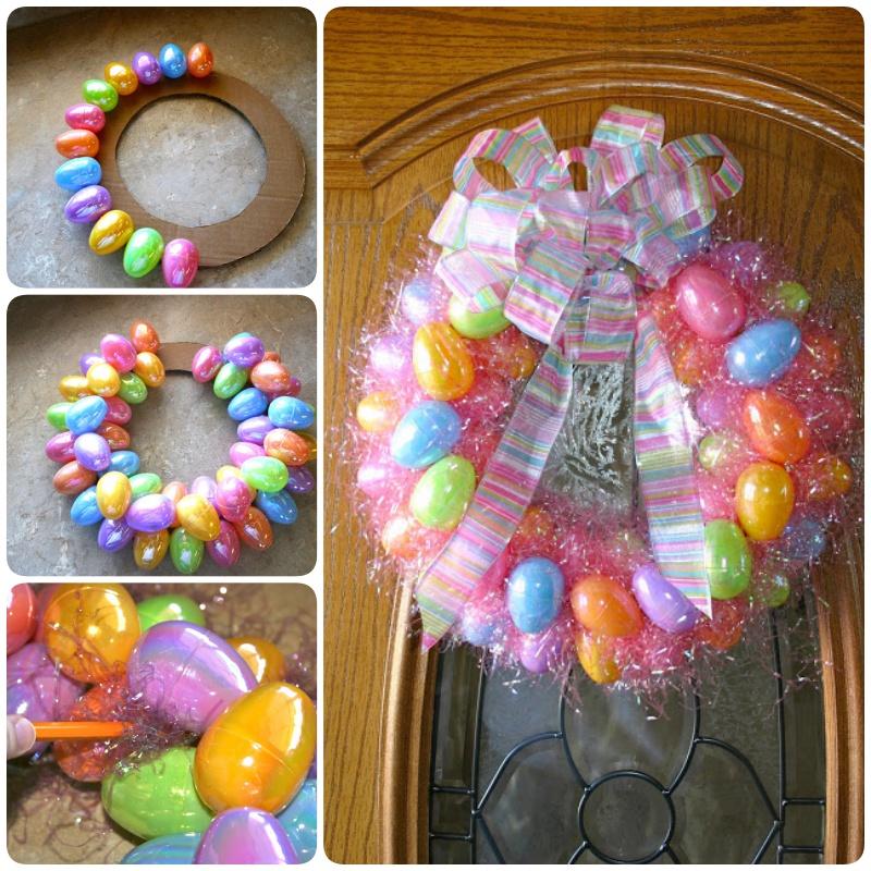DIY Easter Egg Wreath -