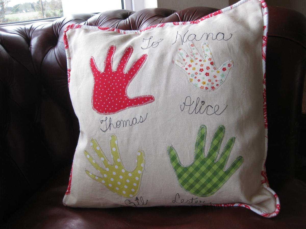 Family Handprint Cushion