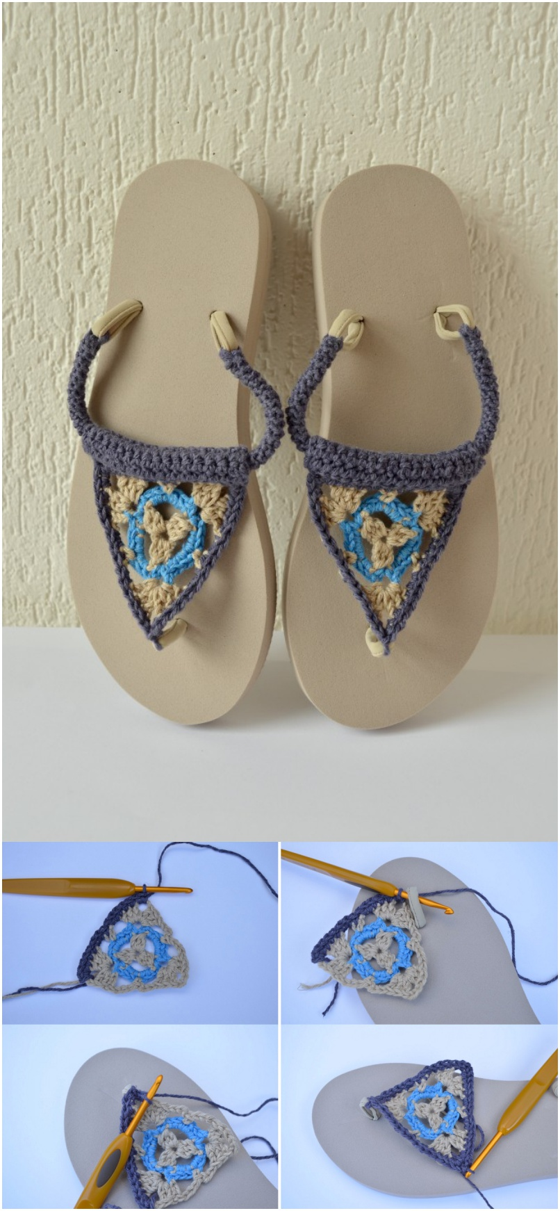 18 Crochet Flip Flops With Free Pattern