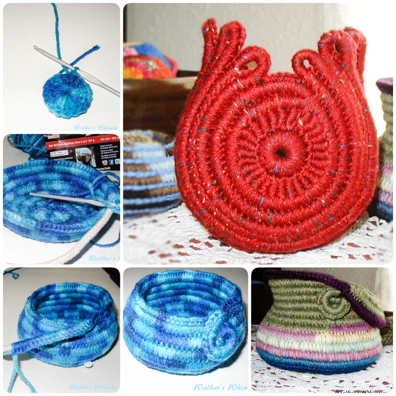 How to Crochet Coiled Rope Basket with Free Pattern