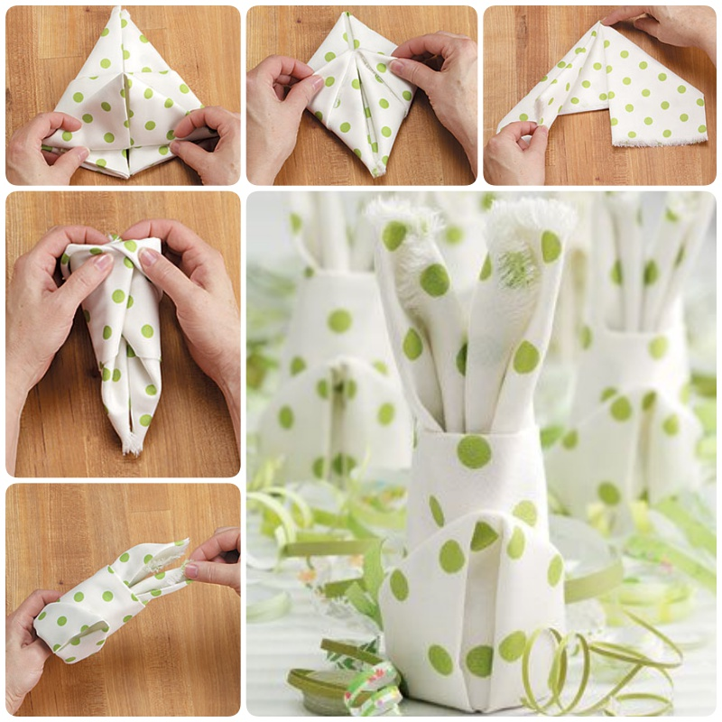 How to Fold a Easter Bunny Napkin