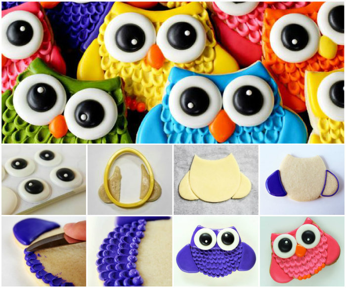 Owl Cookies with Big Eyes