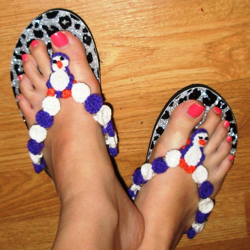 Penguin Flip Flops with Free Pattern