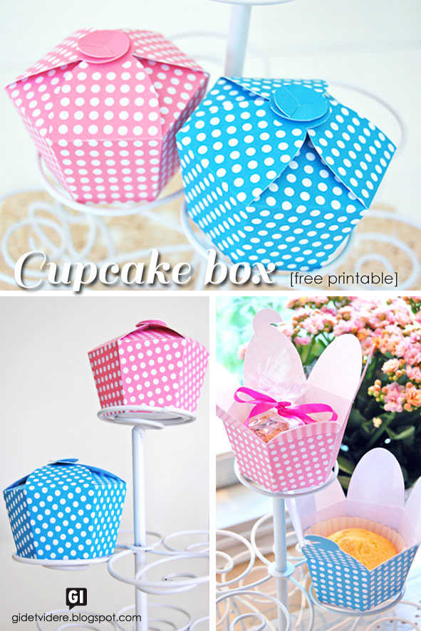 DIY Polka Dot Cupcake Box With Free Pattern
