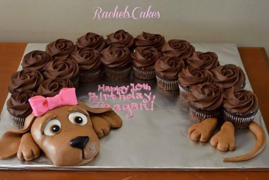 Pull Apart Puppy Cupcake Cake