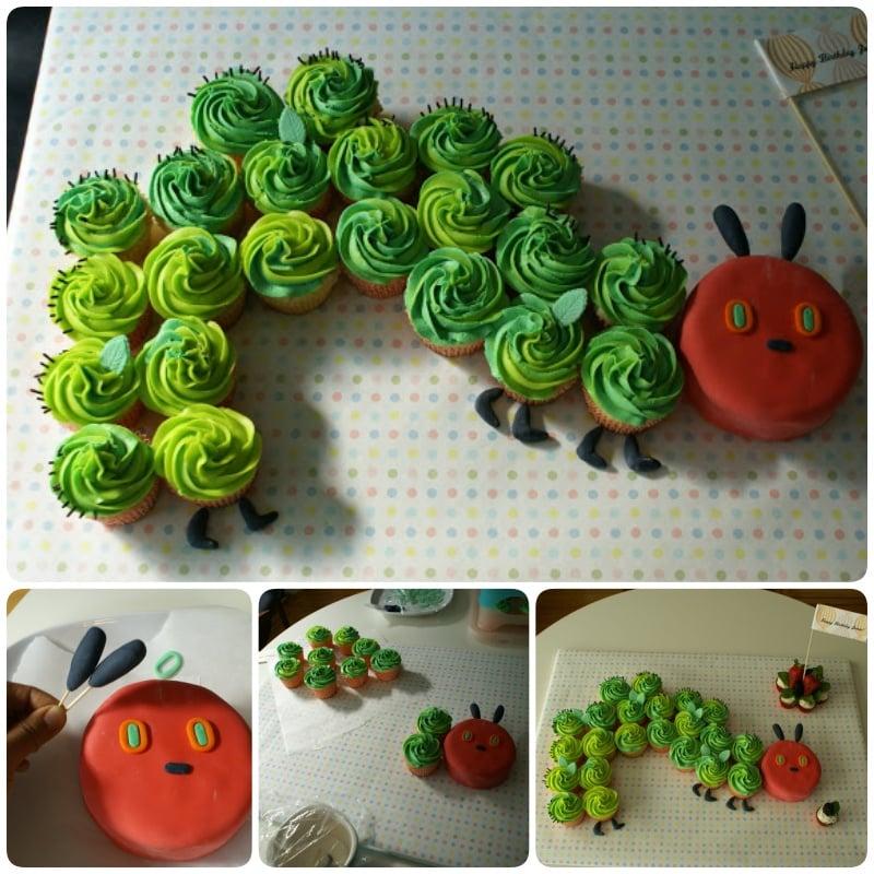 Pull Apart The Hungry Caterpillar Cupcake Cake