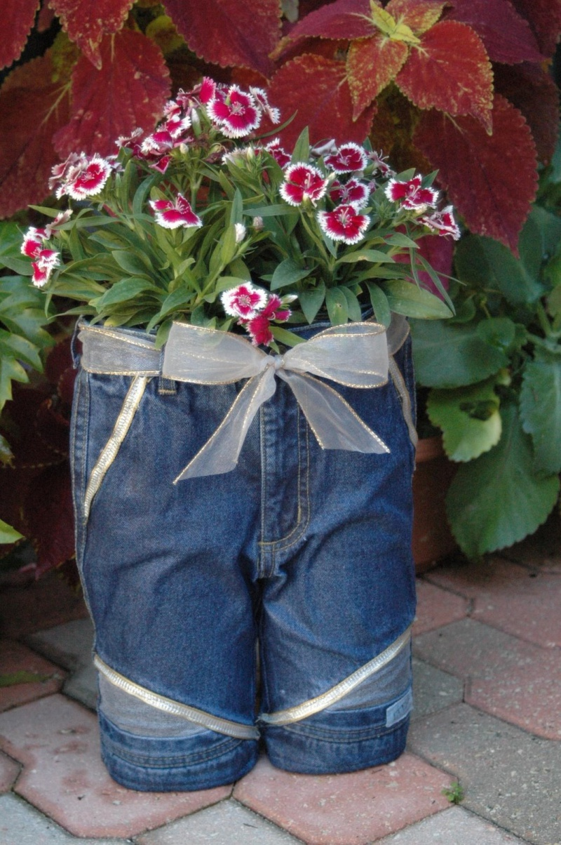 Diy Old Jeans Planters