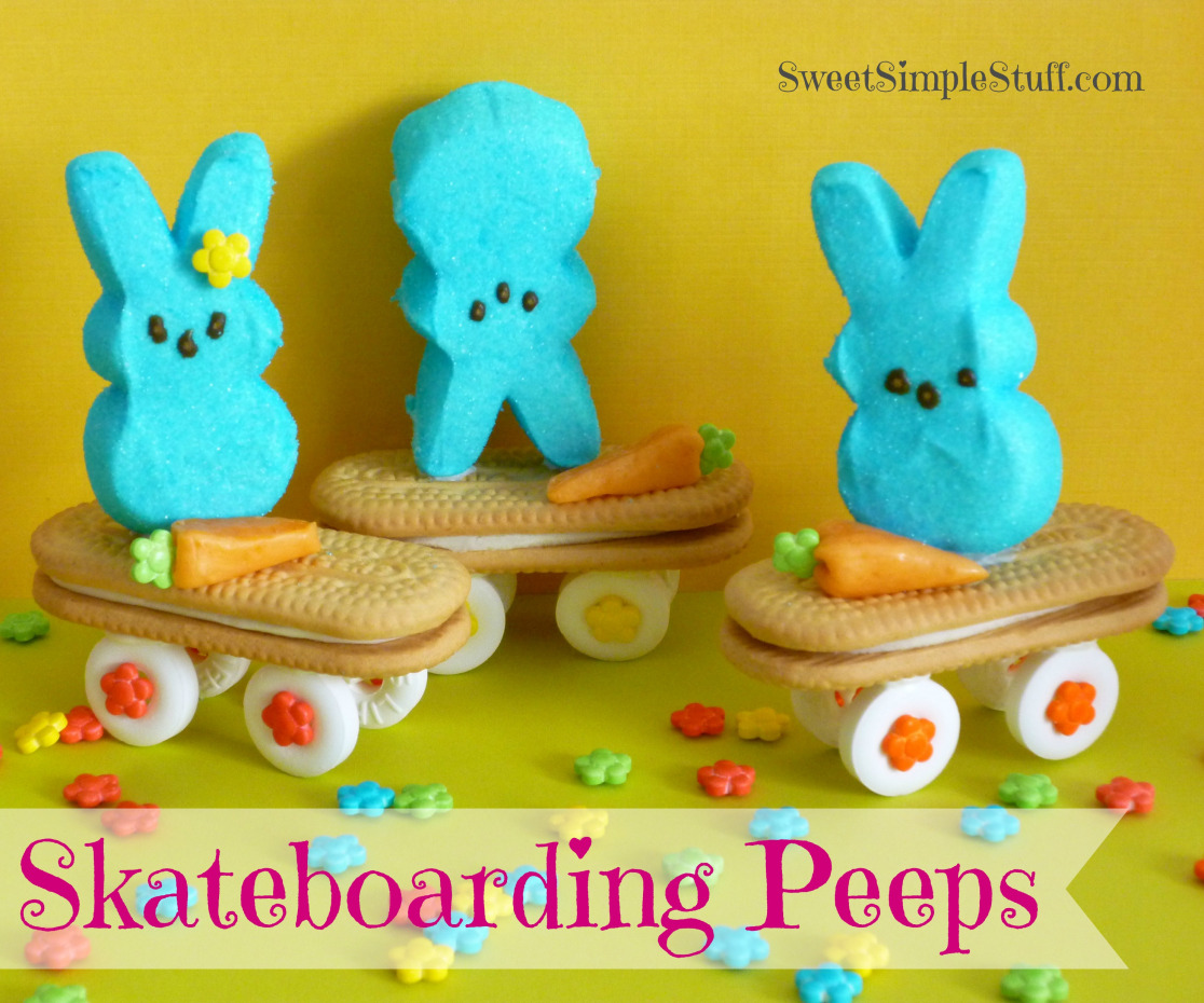 Skateboarding Peeps Bunnies