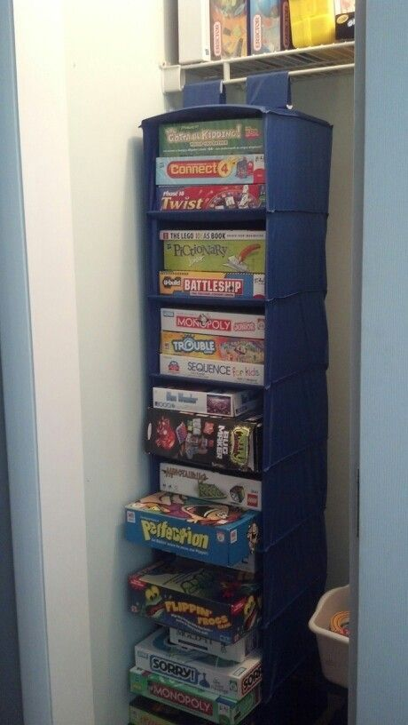 Store and organize board games in a Hanging Storage Shoes Organizer