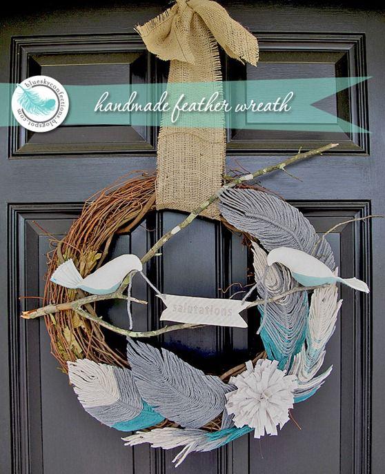 DIY Handmade Feather Wreath