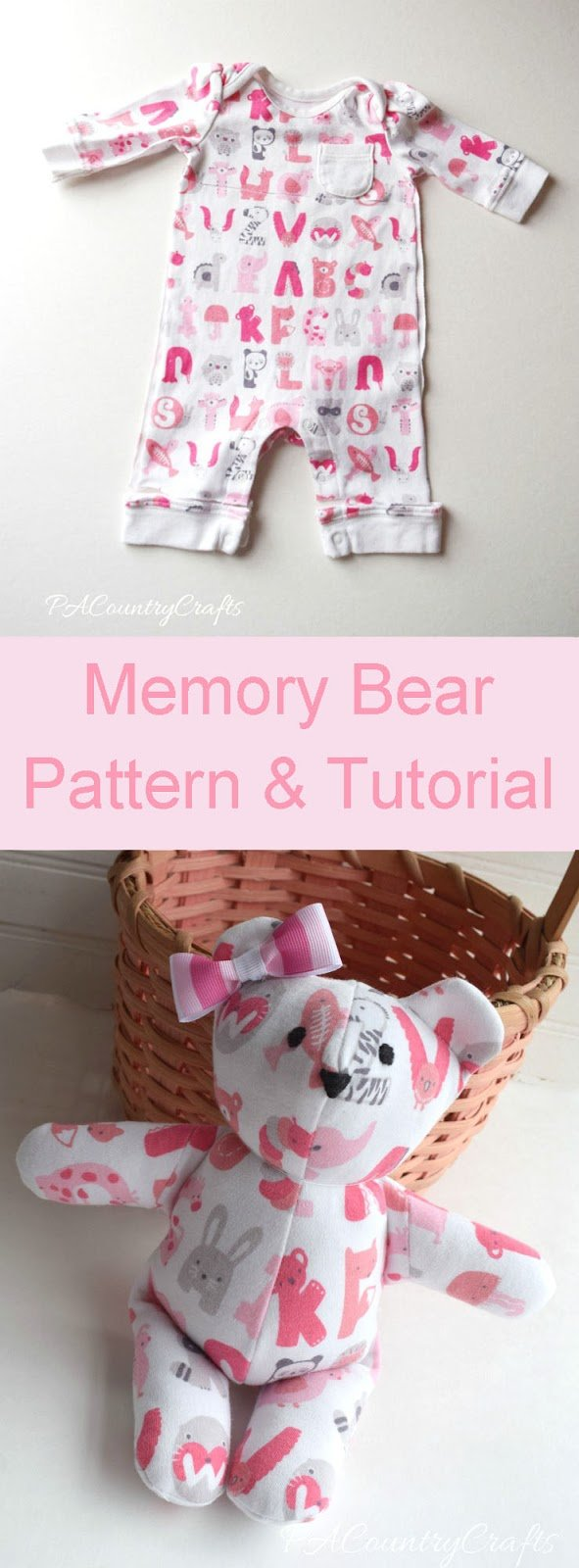Simple keepsake ideas made with baby old clothes memory bear free sewing pattern and tutorial jeuxipadfo Choice Image