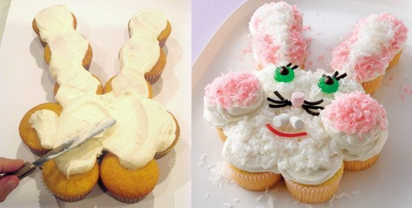 pull apart bunny cupcake cake