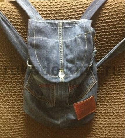 Denim Backpack from Recycled Jeans