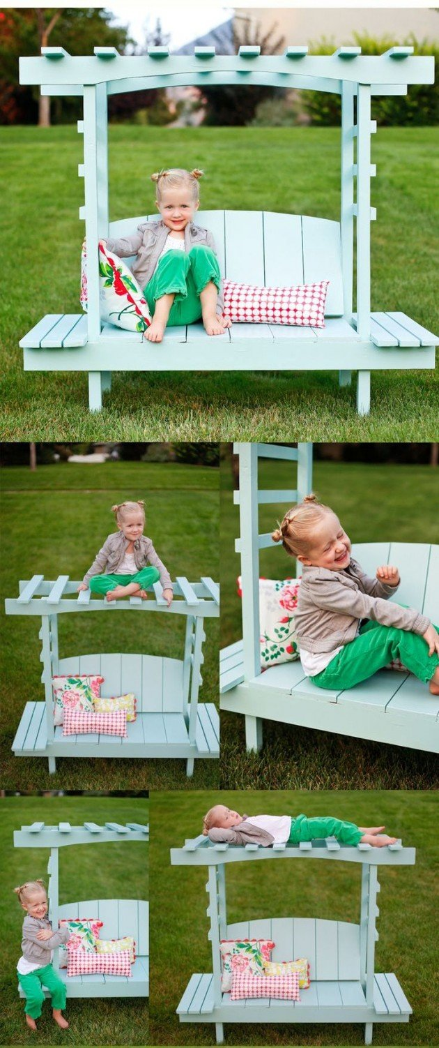 Pallet Furniture for Kids-Build a children's Arbor Bench