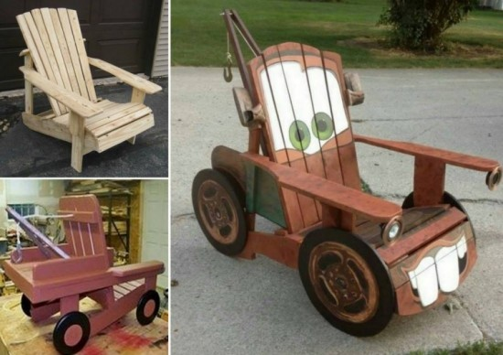 Pallet Furniture for Kids-DIY Tow Truck Chair