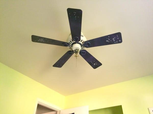 The Guy Gave This Boring Old Ceiling Fan A Beautiful Makeover