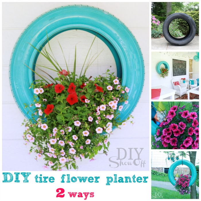 Diy Flower Gardening Ideas And Planter Projects: 19 DIY Tire Planter