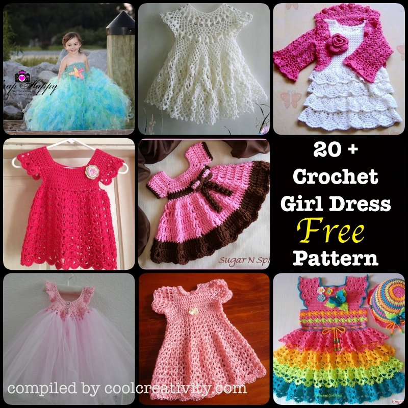 Free Crochet Pattern For Girl Dresses : 20+ Crochet Girl Dress with Free Pattern