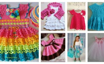 20+ Crochet Girl Dress with Free Pattern
