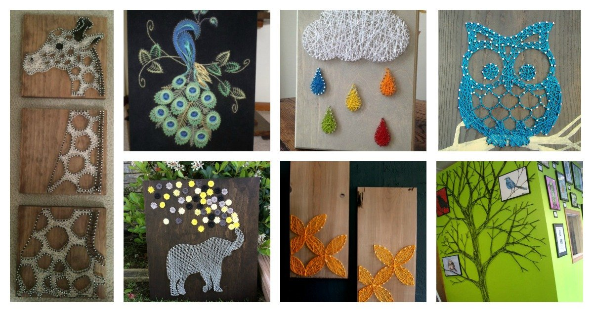 30 Creative Diy String Art Project Ideas