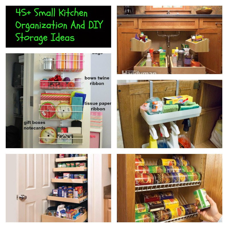 45 Small Kitchen Organization Ideas