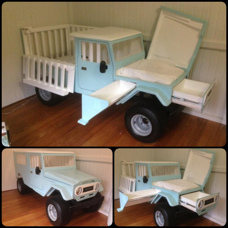 cool garage ideas diy - Turn A Truck Crib Into A Changing Table
