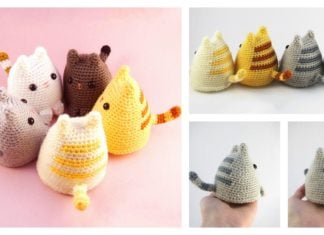 Crochet Adorable Dumpling Kitty with Free Pattern (Video)