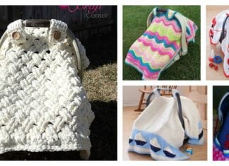 Crochet Baby Car Seat Cover with Pattern