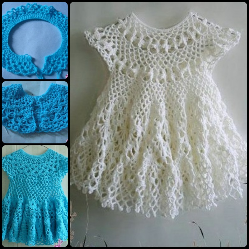 20 crochet girl dress with free pattern page 4 of 4 for Crochet wedding dress patterns