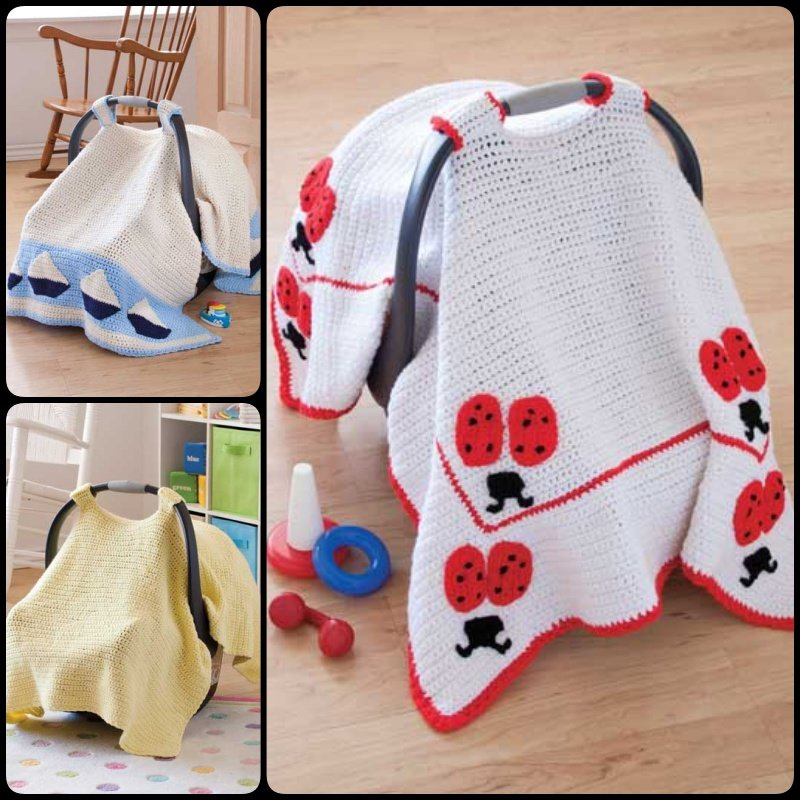 Basic Car Seat Tent with Free Pattern  sc 1 st  Cool Creativities & Crochet Baby Car Seat Cover with Pattern