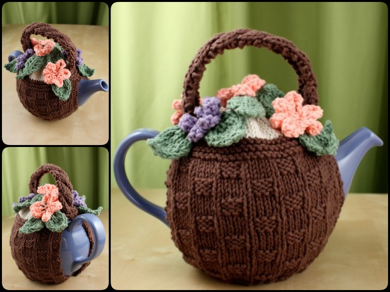 Free Crochet Flower Basket Pattern : 20+ Handmade Tea Cozy with Patterns - Page 3 of 3