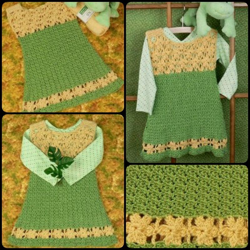 Crochet Lemon Drop Dress with Free Pattern