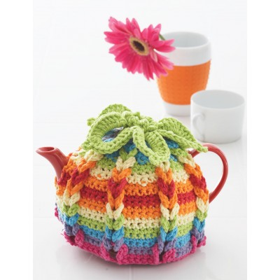Crochet Lily Sugar N Cream Hot Hibiscus Tea Cozy With Free Pattern