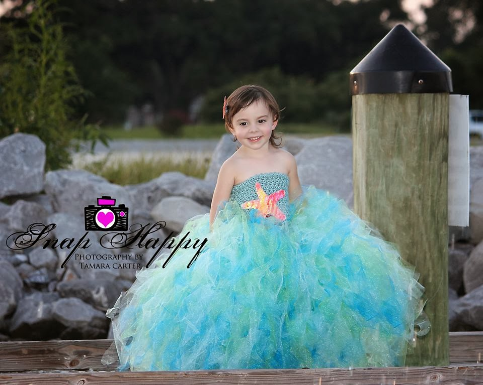 Crochet Mermaid Princess Tutu Dress with Free Pattern