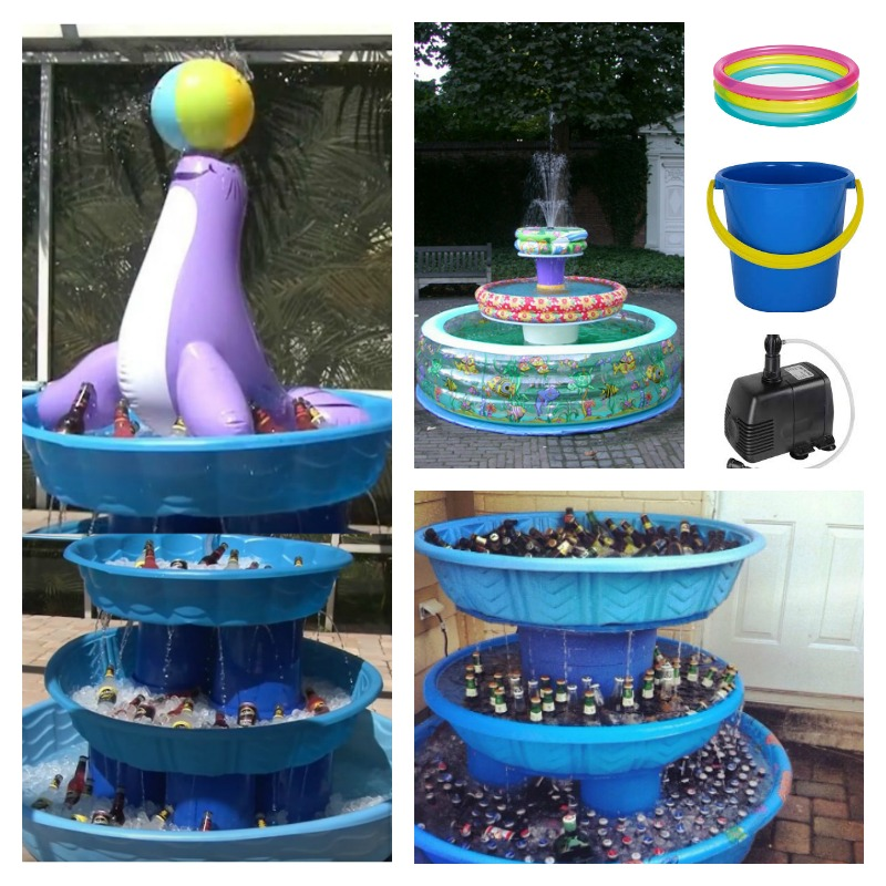 DIY 3 Level Iced Beverage Fountain Cooler
