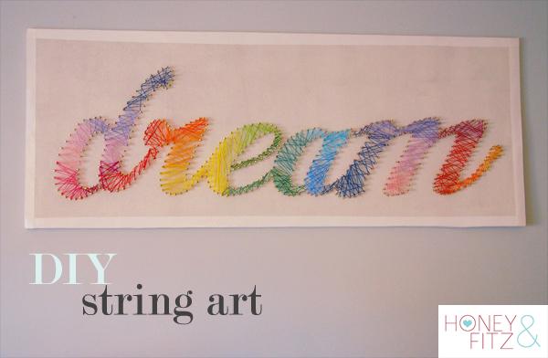 DIY Rainbow Dream String Art