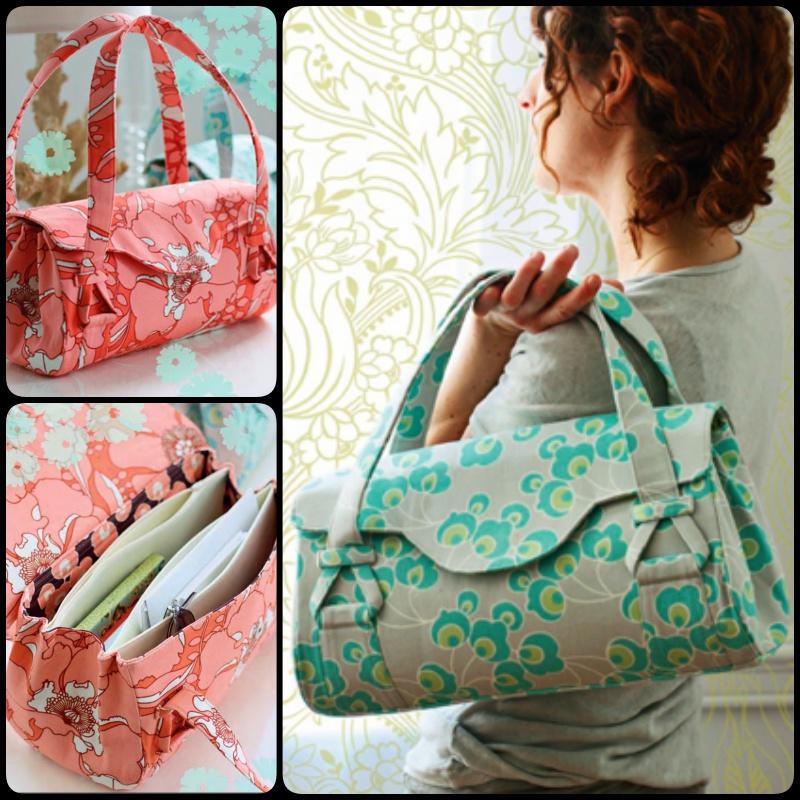 Diy Sewing Blossom Handbag Shoulder Bag With Free Pattern