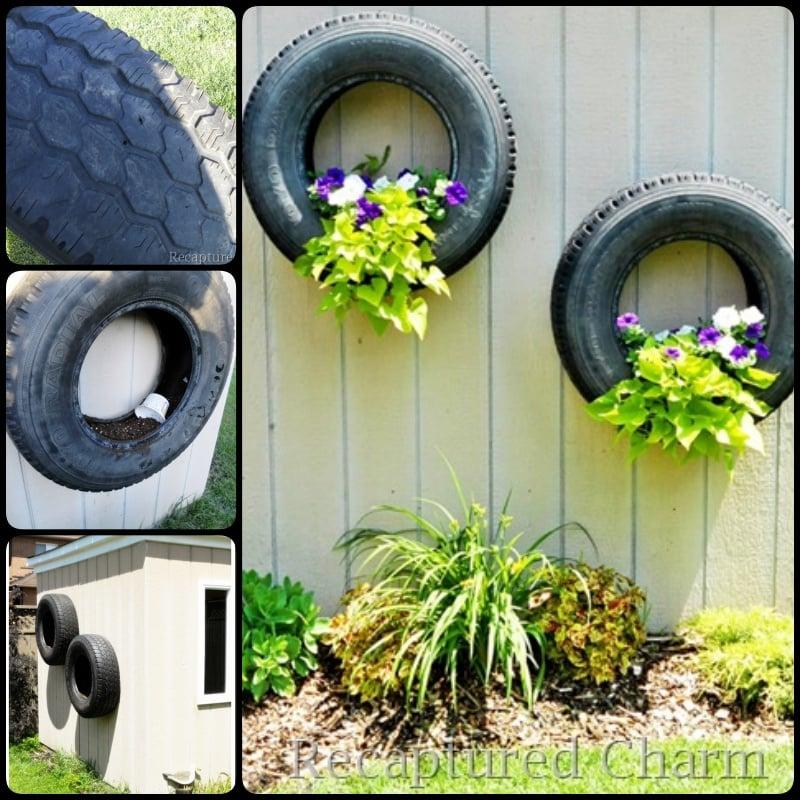 DIY Tire Flower Planter