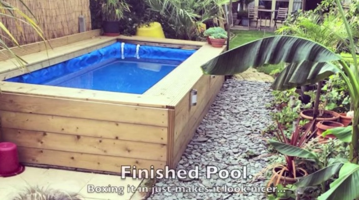Build a swimming pool with straw bales for Cheapest way to build a pool