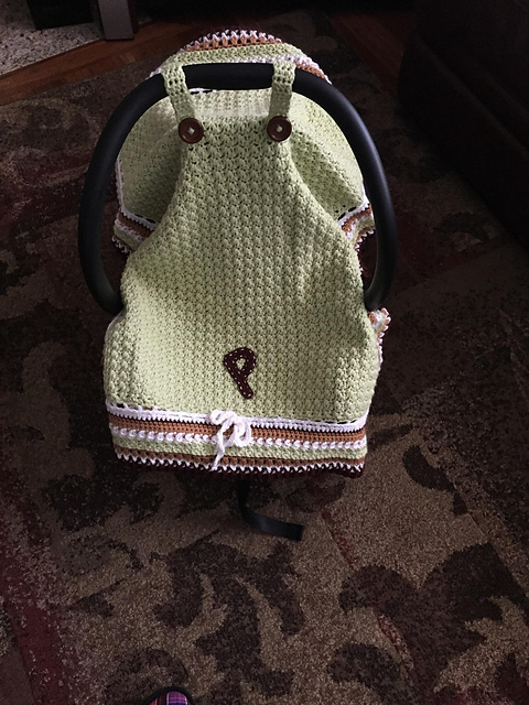 Best Car Seat Covers >> Crochet Baby Car Seat Cover with Pattern