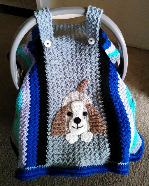 Free Crochet Pattern For Baby Car Seat Cover : Crochet Baby Car Seat Cover with Pattern