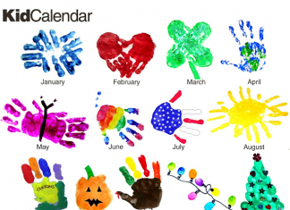 Kids Handprint Calendar