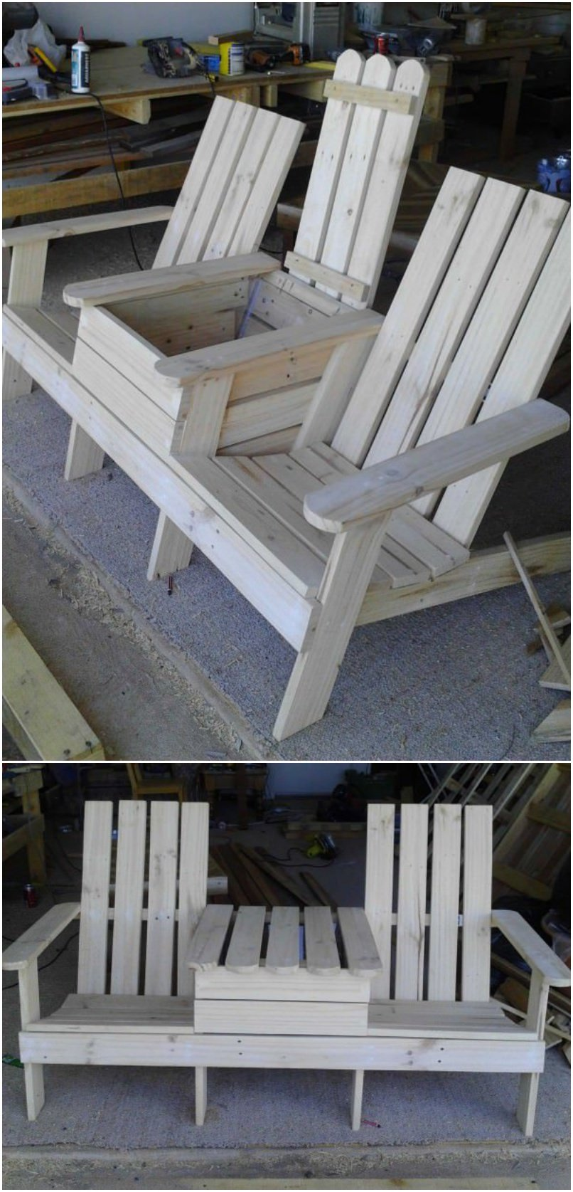 Build A Double Chair Bench With A Cooler