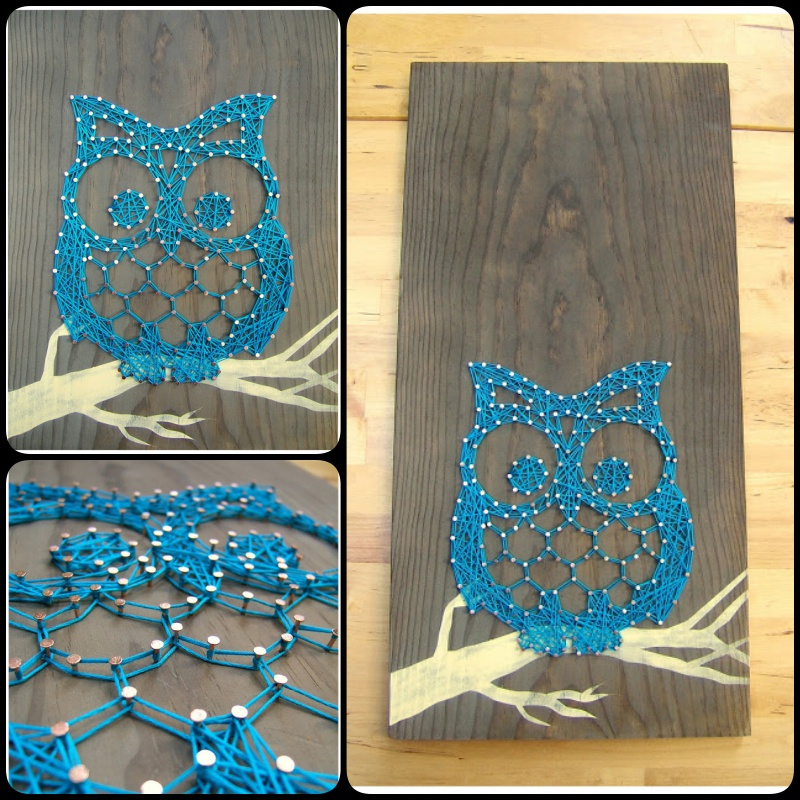 Owl Tablet String Art