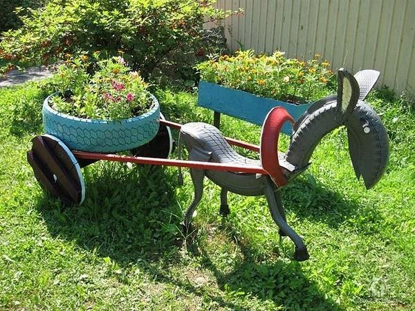 Recycle Tire Planter 1
