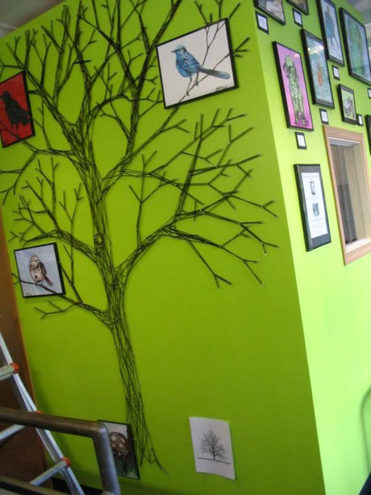String Tree Wall Mural