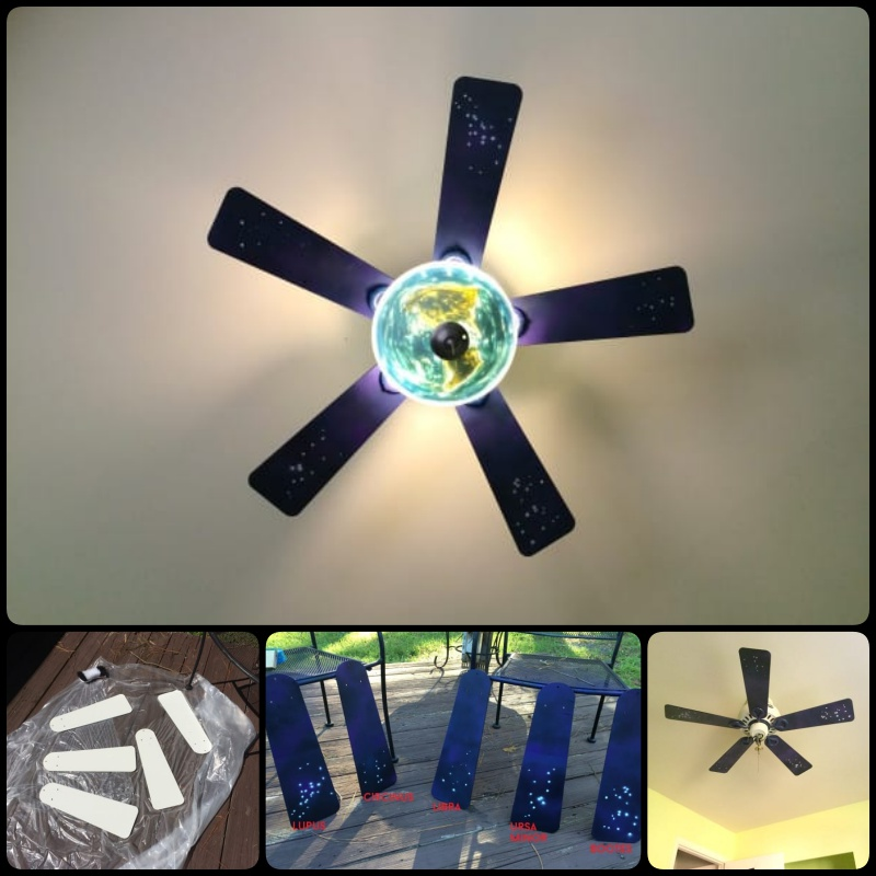 A Boring Old Ceiling Fan A Beautiful Makeover
